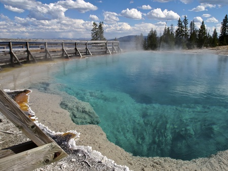 Black Pool at West Thumb Geyser Basin, Yellowstone National Park, Wyoming Stock Photo - 11221439
