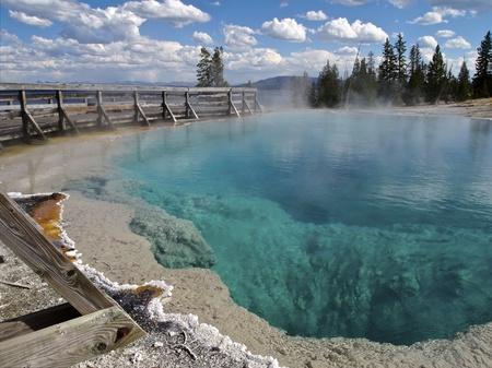 Black Pool at West Thumb Geyser Basin, Yellowstone National Park, Wyoming