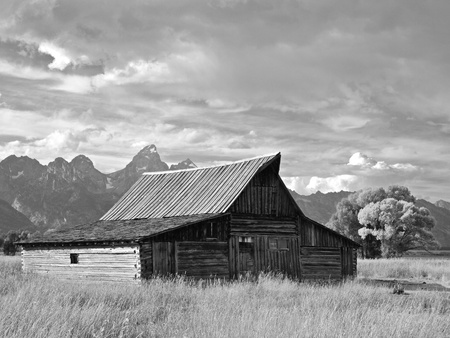 Grand Tetons and the Moulton Barn, Wyoming