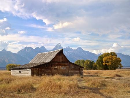 Velký Tetons a Moulton Barn, Wyoming