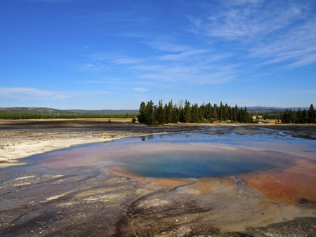 Opal Pool at Midway Geyser Basin, Yellowstone National Park, Wyoming Stock Photo - 11221441