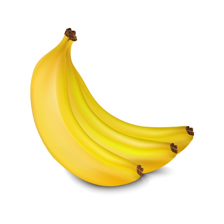 bananas isolated on white background Stock Vector - 19870002