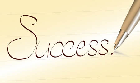 Word Success written by pen