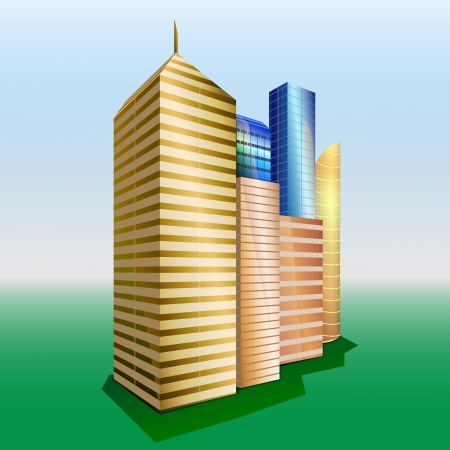 Skyscrapers  Vector buildings  Skyline  Illustration
