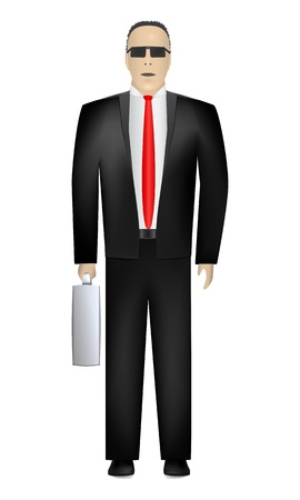 Business Man. Front view. Vector