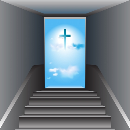 Stairway to Heaven  Way to God  The Cross of Jesus Christ Illustration