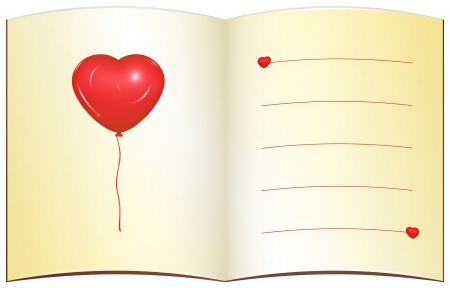 Open love note Illustration