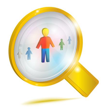 Personnel management Concept icon.