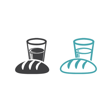 Set of two vector icons. Flat design Monochrome