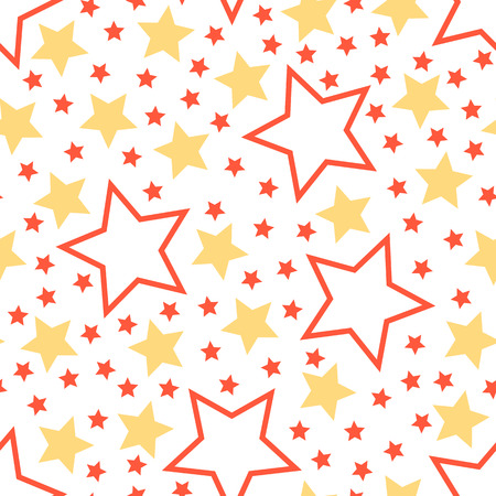Seamless childres background a pattern on a space subject. Travel to stars, observation of infinity of the Universe.