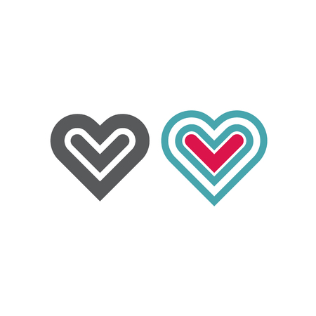 Vector illustration on the theme of love and romance relationship. Flat design 일러스트