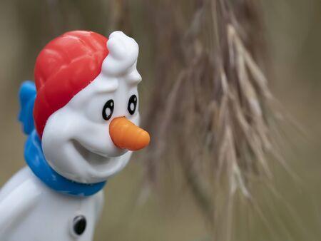 White snowman cute smiling