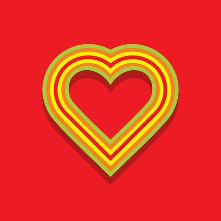 Vector flat illustration. Love. My love, Valentins day. Love in my life. I love you. You are my love