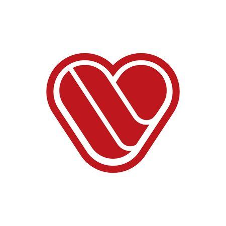 Vector flat illustration. Love. My love, Valentine's day. Love in my life. I love you. You are my love