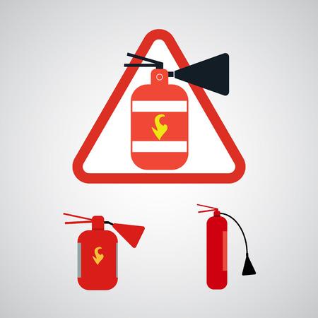 extinguishers: Set of Fire extinguishers. Vector illustration Illustration