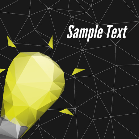realize: Abstract Triangle poster design vector template. Realize your idea Illustration