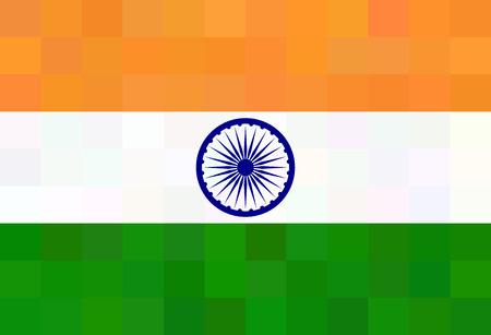 quadratic: Bandera de la India - modelo poligonal triangular Vectores