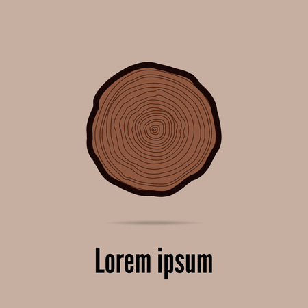 Vector tree rings background. Colored and isolated