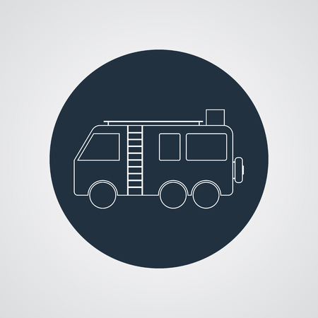 campground: Motorhome Camper van silhouette vector icon