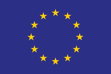 원래 및 간단한 유럽 플래그 (EU) 격리 된 벡터 공식 색상 및 비율 올바르게. 고품질 일러스트