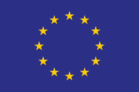 correctly: original and simple Europe flag (EU) isolated vector in official colors and Proportion Correctly. High quality