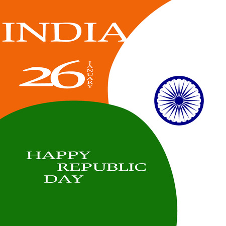 26 january: Elegant Indian flag theme background of Happy Republic day. 26 january. Vector