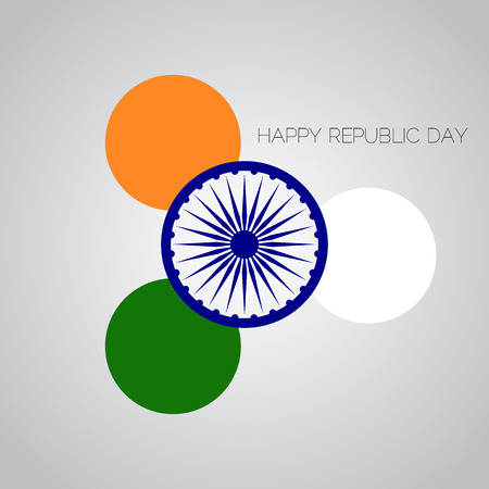tricolors: Creative Illustration for Indian Rebuplic Day with tricolors and ashoka wheel. Vector