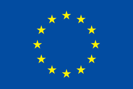 to proportion: European union flag. Original proportion and colors. EU symbol. Vector illustration.