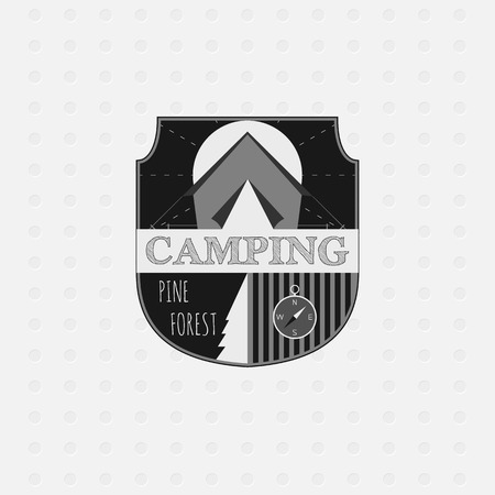 Outdoor adventure badges and forest logo emblems. Camping icon. Vector illustration Vector