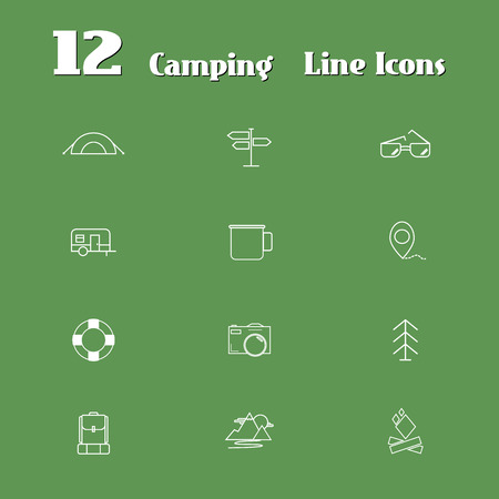 Travel Line Icons for Web and Mobile. Minimalistic design. Light version. Vector illustration Vector