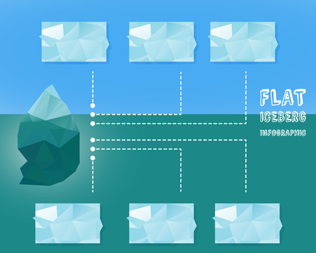 Polygonal iceberg infographics.
