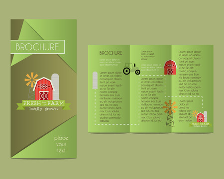 concerning: Brochures and flyer design template in polygonal style concerning to ecology, natural, organic themes with infographic elements. Vector illustration