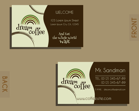 Brand identity elements visiting card template for cafe brand identity elements visiting card template for cafe restaurant and other food business accmission Images