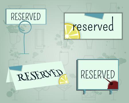 reservation: Reservation sign mock up template.