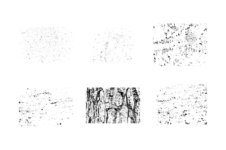 own: Collection of grunge textures. Make your own vintage and retro design. Isolayed on white background. Vector illustration. Illustration