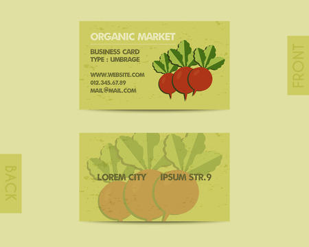 fairs: Summer Farm Fresh branding identity elements. Business card template. Organic stylish design. Mock up. Best for natural shop, organic fairs, eco markets and local companies. Vector illustration