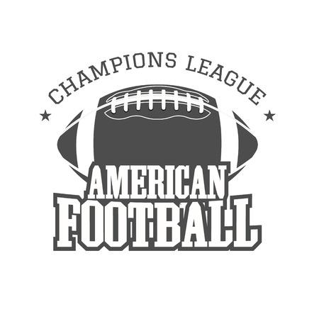 campeonato de futbol: Insignia de campeones de la liga de f�tbol americano,, etiqueta, insignias de estilo retro de color.