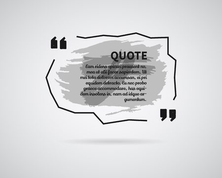 citing: Quote blank templates. Watercolor, ink, splash Quote bubble. Empty template. Abstract business card template, paper sheet, information, text. Print design. Quote form. Template vector Illustration