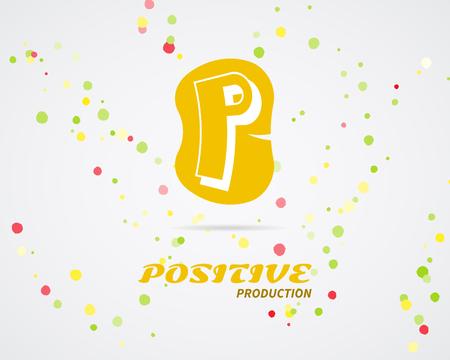 looped shape: Vector abstract logo design. Positive production. Creative logo icon. Abstract logotype template. Round abstract shape symbol, creative technology icon, geometric element logo. Creative company logo.