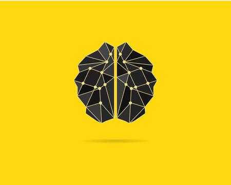 Modello di Brainstorm, icona del cervello, idea poster modello e gli elementi. Cervello concetto di vettore. Brochure design. Creativo sfondo concetto di giallo. carta di testo. manifesto Brainstorm. Potere del cervello. Vettore. Archivio Fotografico - 48467172