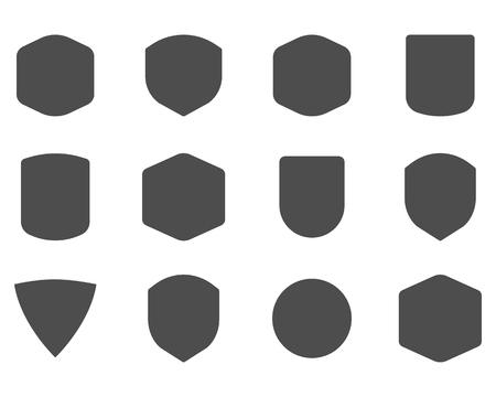 Ensemble de cadres d'époque, des formes et des formes pour logo, étiquettes, insignes. Utilisez pour Voyage, le camping les emblèmes et ainsi de suite. Vector logotype design sillhouette. Banque d'images - 50376524