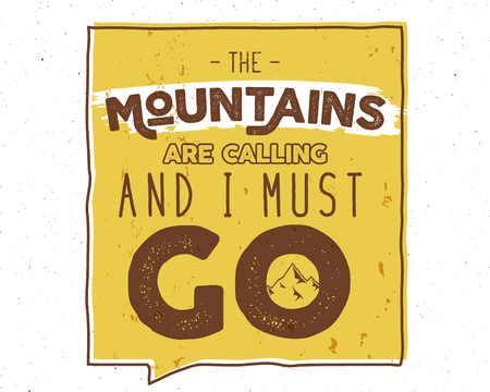 Outdoor Inspiration Background. Motivation Mountain Brochure ...