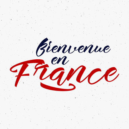en: Bienvenue en France label. 2016 Soccer emblem, Football overlay, tournament . Championship, league lettering design for presentations, brochures,  sports equipment, web, print, sales.