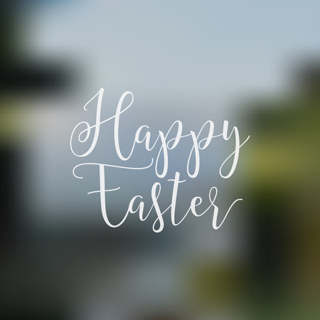 easter sign: Easter sign - Happy Easter. Easter wish overlay, lettering label design. Retro holiday badge. lettered easter emblem. Isolated. Religious holiday sign Easter photo overlays design for web, print