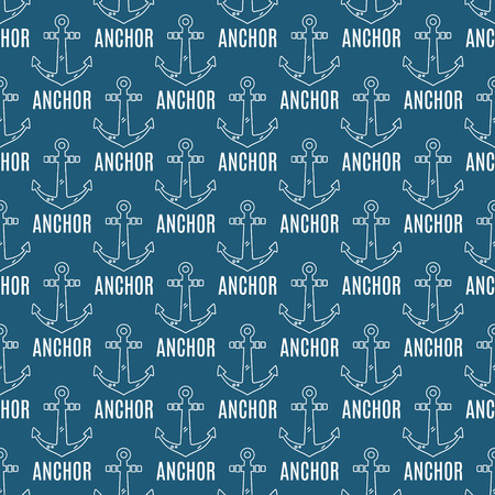 t shirt printing: Seamless vector pattern with anchors and text. Seamless pattern can be used for wallpaper, tee designs, pattern fills, t shirt printing, web page background, surface textures. Nautical hipster style.