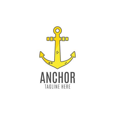 anchored: Anchor vector icon. Sea, sailor symbol. Anchor . Anchor icon. Anchor symbol, anchor tattoo. Flat style template.  Anchor label, decor , premium quality concept. Summer design.