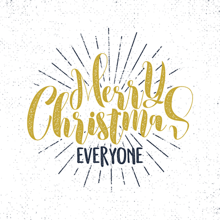 Set of christmas new year 2017 lettering wishes sayings and merry christmas everyone lettering holiday wishe sayings and vintage label seasons greetings calligraphy m4hsunfo