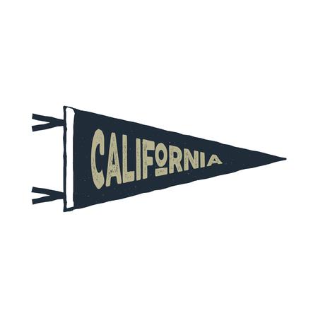 カリフォルニア州旗ベクトル  イラスト・ベクター素材