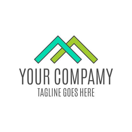 부동산 로고 디자인, 정보 그래픽, 웹 사이트 및 인쇄 매체에 적합한 부동산 중개인 아이콘. 평면, 배지, 레이블, 클립 아트. Lineart 스타일. 우아한 얇은