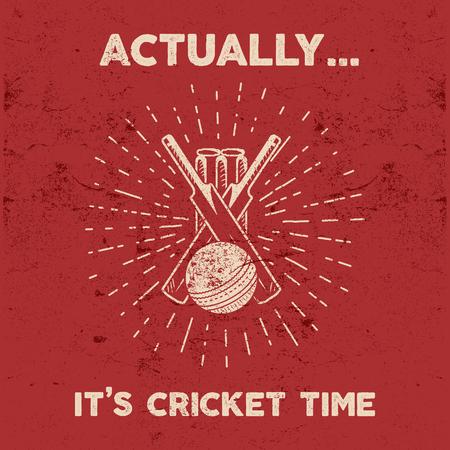 Retro cricket club emblem design. Cricket logo icon design. Cricket badge. Sports logo symbols with cricket gear, equipment. Cricket tee design. Tee shirt emblem. T-Shirt prints vintage style. Imagens